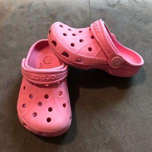 Toddler Light Pink CROCS❤️